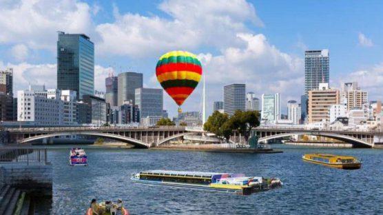 熱気球と水上さんぽ体験!
